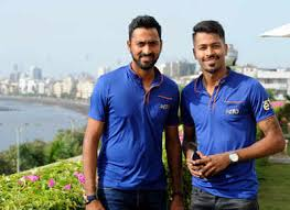 Hardik Pandya with his brother