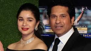 Sachin Tendulkar with his daughter