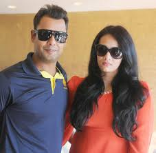Mayanti Langer with her husband