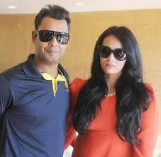 Mayanti Langer with her husband