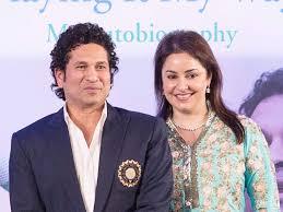 Sachin Tendulkar with his wife
