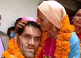 The Great Khali with his mother