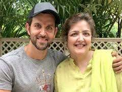 Hrithik Roshan with his sister