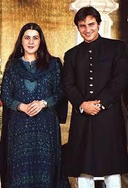 Saif Ali Khan with his ex-wife Amrita