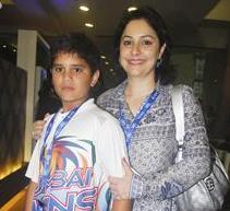 Anjali Tendulkar with her son