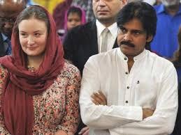 Pawan Kalyan with his wife Anna