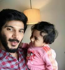 Dulquer Salmaan with his daughter