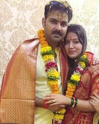 Pawan Singh with his wife Jyoti