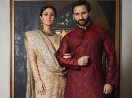 Saif Ali Khan with his wife Kareena