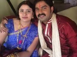 Pawan Singh with his ex-wife Neelam