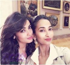 Sonal Chauhan with her sister