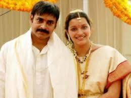 Pawan Kalyan with his ex-wife Renu