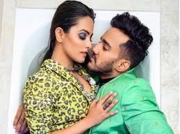 Anita Hassanandani with her husband Rohit