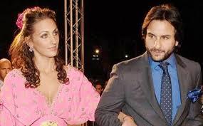 Saif Ali Khan with his ex-girlfriend Rosa