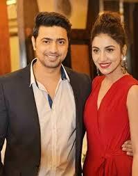 Dev with his girlfriend Rukmini