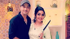 Shubhangi Atre with her husband