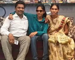 Madhu Priya with her parents
