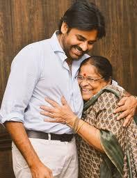 Pawan Kalyan with his mother