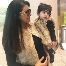 Geeta Basra with her daughter