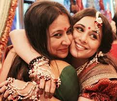 Vidya Balan with her sister