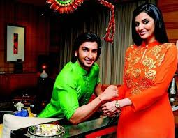 Ranveer Singh with his sister