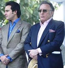 Saif Ali Khan with his father