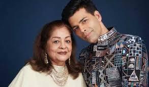 Karan Johar with his mother