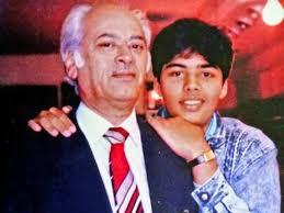 Karan Johar with his father