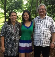 Rochelle Rao with her parents