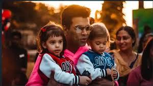 Karan Johar with his children