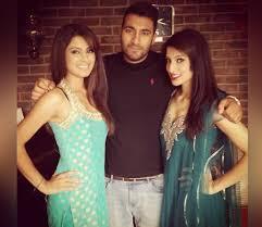 Geeta Basra with her brother & sister