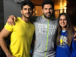 Yuvraj Singh with his step-brother & step-sister