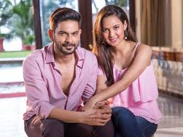 Rochelle Rao with her husband