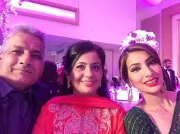 Geeta Basra with her parents