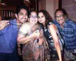 Siddharth with his family
