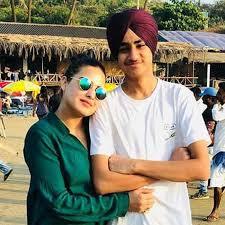 Himanshi Khurana with her brother Apram