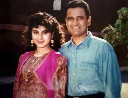 Meenakshi Seshadri with her husband Harish