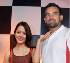 Zaheer Khan with his ex-girlfriend Isha