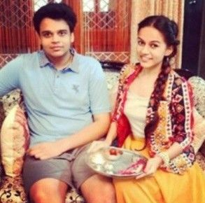 Komal Pandey with her brother