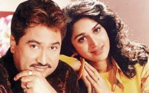 Meenakshi Seshadri with her ex-boyfriend Kumar Sanu