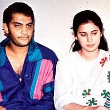 Mohammad Azharuddin with his ex-wife Naureen