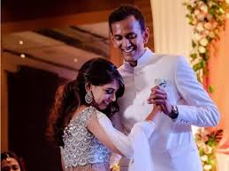 Niti Taylor with her husband