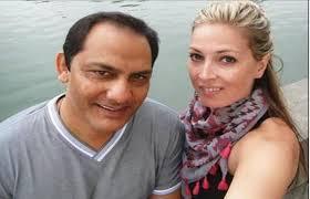 Mohammad Azharuddin with his girlfriend Shannon