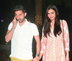 Diana Penty with her boyfriend