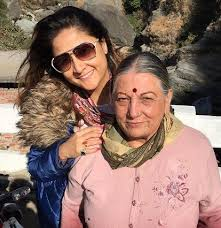 Urvashi Dholakia with her mother