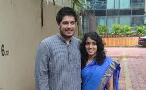 Ira Khan with her brother