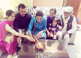 Anmol Gagan Maan with her family
