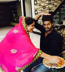 Miss Pooja with her brother