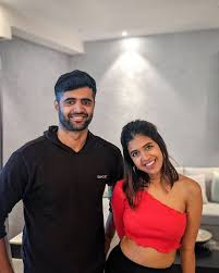 Sejal Kumar with her brother
