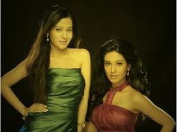 Amrita Rao with her sister